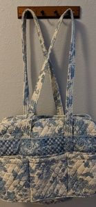 Vera Bradley diaper bag, blue & white
